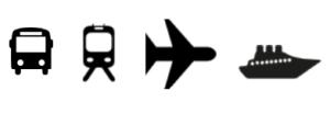 bus tren avió i vaixell